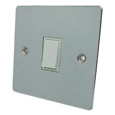 Flat Polished Chrome Light Switch