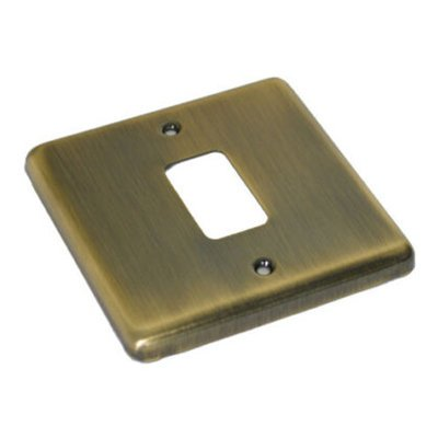 Classic Grid Antique Brass  Sockets & Switches
