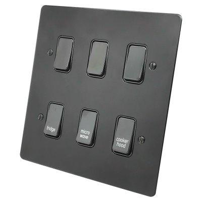 Flat Grid Black  Sockets & Switches