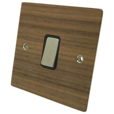 Flat Wood Veneer Walnut / Satin Stainless  Sockets & Switches