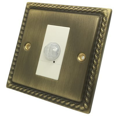 Georgian Antique Brass PIR Switch