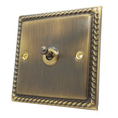 Georgian Antique Brass Unswitched Fused Spur