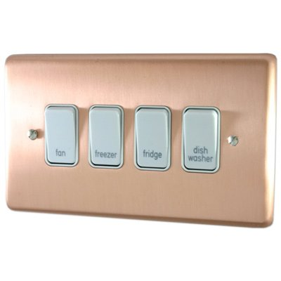 Classic Grid Brushed Copper  Sockets & Switches