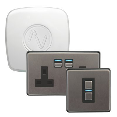 Lightwave RF (Smart Series) Brushed Steel  Sockets & Switches