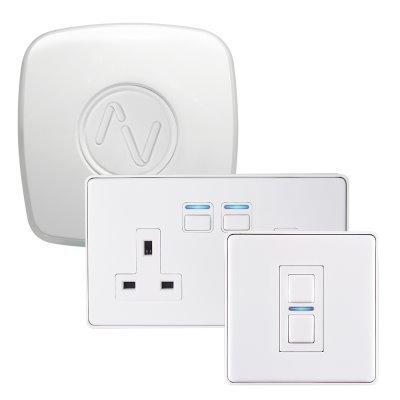 Lightwave RF (Smart Series) White  Sockets & Switches