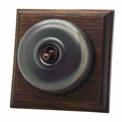 Vintage Dome (Metal) Old Bronze / Dark Oak  Sockets & Switches