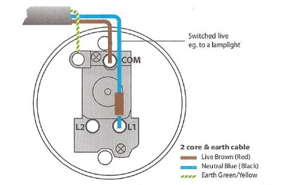 Wiring diagram for a one way ceiling light switch