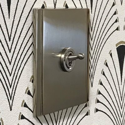 Art Deco Dual Satin Nickel  Sockets & Switches