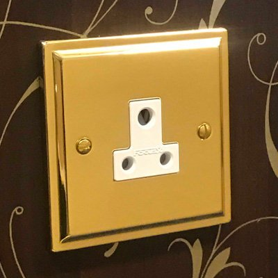 Art Deco Polished Brass  Sockets & Switches
