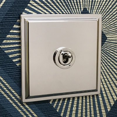 Art Deco Polished Nickel  Sockets & Switches