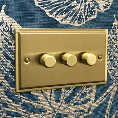 Art Deco Satin Brass  Sockets & Switches