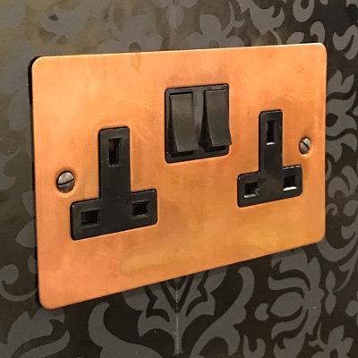 Burnished Flat Burnished Copper  Sockets & Switches