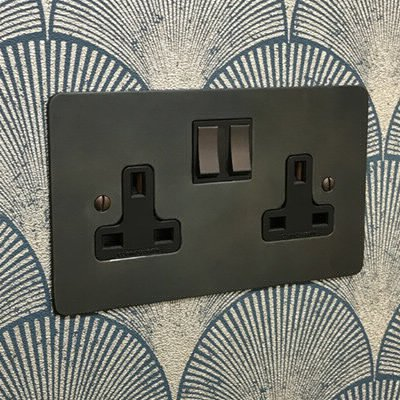 Burnished Flat Waxed Copper  Sockets & Switches