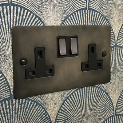 Burnished Flat Pewter  Sockets & Switches