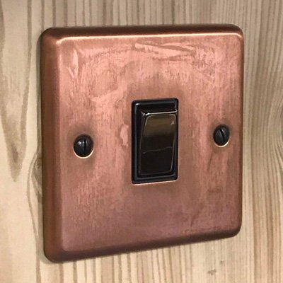 Classical Aged Burnished Copper  Sockets & Switches