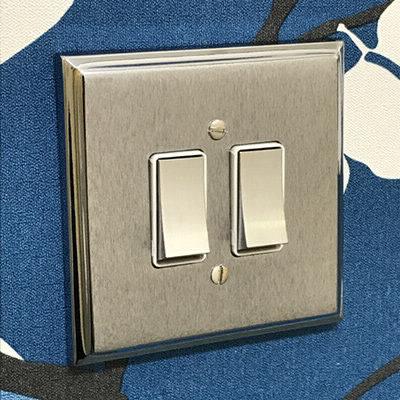 Duo Premier Plus Satin Chrome  Sockets & Switches