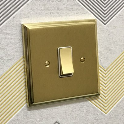 Duo Premier Plus Satin Brass  Sockets & Switches