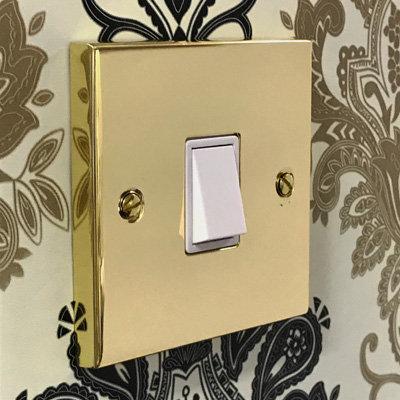 Edwardian Classic Polished Brass  Sockets & Switches