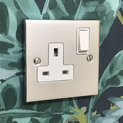 Edwardian Classic Polished Chrome  Sockets & Switches