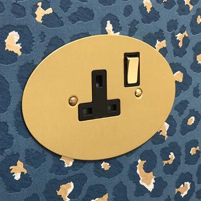 Ellipse Satin Brass  Sockets & Switches