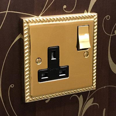Georgian Premier Plus Polished Brass  Sockets & Switches