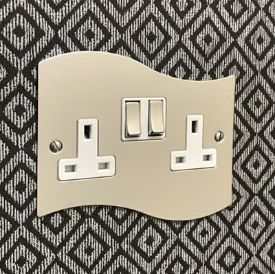 Ocean Wave Polished Chrome  Sockets & Switches