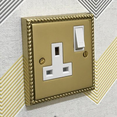 Palladian Polished Brass  Sockets & Switches