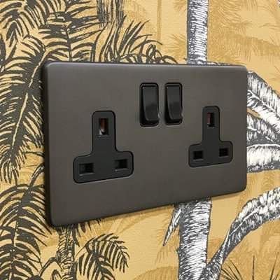 Screwless Aged Old Bronze  Sockets & Switches