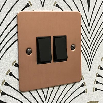 Square Classic Brushed Copper  Sockets & Switches