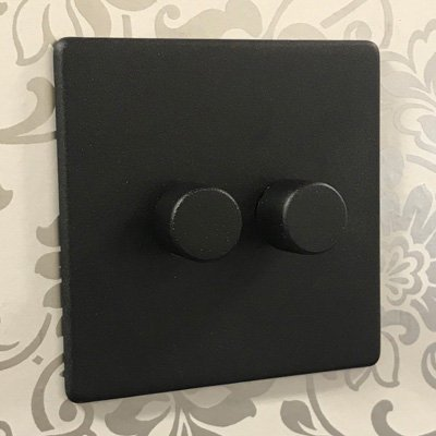 Textured (Screwless) Black  Sockets & Switches