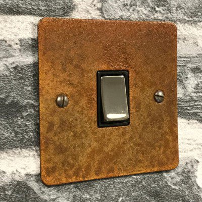 Flat Vintage Rust  Sockets & Switches
