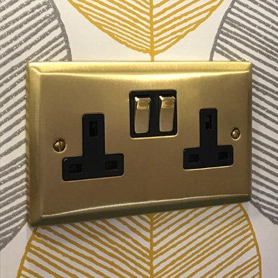 Vogue Satin Brass  Sockets & Switches
