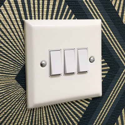 Vogue White  Sockets & Switches
